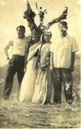 Dhiren with wife after marriage 1955.jpg